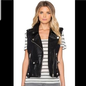 Revolve | Blanknyc Faux Leather Black Vest Small